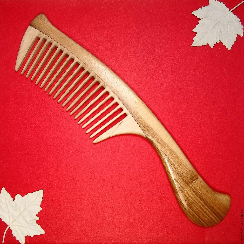 Деревянная расческа в подарок 35