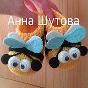 """Работы для детей, ручной работы. Ярмарка Мастеров - ручная работа Пинетки """"пчелки"""". Handmade."""