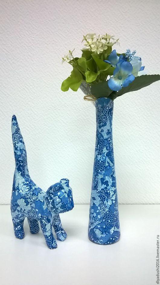 Вазы ручной работы. Ярмарка Мастеров - ручная работа. Купить Вазочка синяя. Handmade. Синий, небольшой подарок, подарок подруге