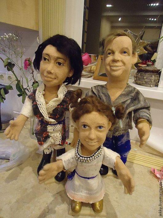 Портретные куклы ручной работы. Ярмарка Мастеров - ручная работа. Купить Портретные куклы на заказ по фото  - Семья. Handmade.