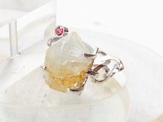 Кольца ручной работы. Ярмарка Мастеров - ручная работа. Купить Серебряное кольцо с топазом и турмалином. Handmade. Серебряный, природный камень