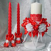 Свадебный салон ручной работы. Ярмарка Мастеров - ручная работа Свадебный набор Красный. Handmade.
