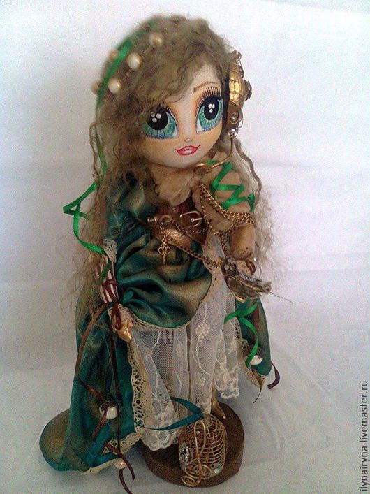 Коллекционные куклы ручной работы. Ярмарка Мастеров - ручная работа. Купить Механический соловей. Handmade. Стимпанк, подарок