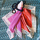 """Носовые платочки ручной работы. Ярмарка Мастеров - ручная работа. Купить Дамские платки """"Кармен"""". Handmade. Однотонный, подарок любимой"""