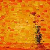 Картины ручной работы. Ярмарка Мастеров - ручная работа Букет на Желтой Мозаике. Handmade.