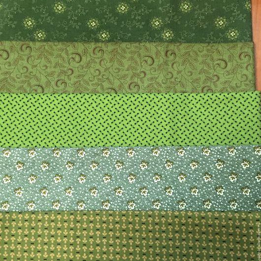 Шитье ручной работы. Ярмарка Мастеров - ручная работа. Купить Подборка хлопка в зеленых тонах. Handmade. Хлопок, ткань для игрушек