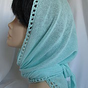 Аксессуары handmade. Livemaster - original item Summer knitted scarf cotton mint. Handmade.