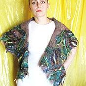 Одежда ручной работы. Ярмарка Мастеров - ручная работа Жилет-трансформер Лесные цветы. Handmade.