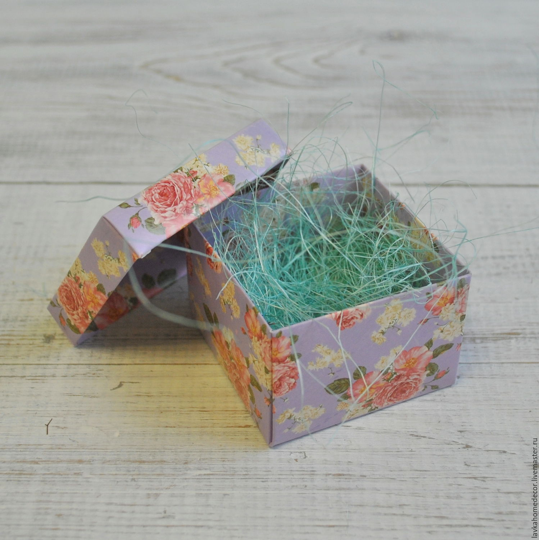 Коробка мини 6х6х4см Фиолет розы, 3723