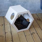 Зоотовары handmade. Livemaster - original item The house-stand for pet`s Future&White. Handmade.