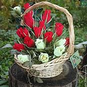 Цветы и флористика ручной работы. Ярмарка Мастеров - ручная работа Розы и немного фисташек....... букет из конфет. Handmade.