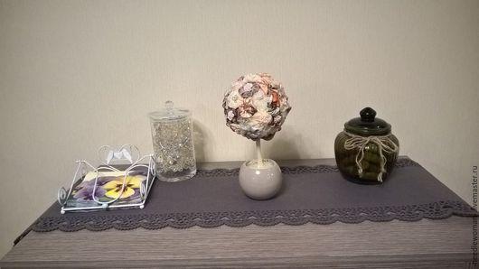 Топиарии ручной работы. Ярмарка Мастеров - ручная работа. Купить Топиарий. Handmade. Синий, топиарий, подарок, ткань, ветки, керамика