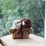 Куклы и игрушки ручной работы. Ярмарка Мастеров - ручная работа Неразлучники по мотивам народной куклы. Handmade.
