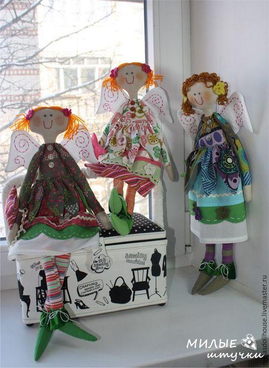"""Куклы тыквоголовки ручной работы. Ярмарка Мастеров - ручная работа. Купить текстильная кукла """"Радужный ангел"""". Handmade. Комбинированный, яркая"""