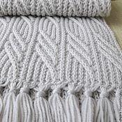 Аксессуары ручной работы. Ярмарка Мастеров - ручная работа Светло-серый почти белый шарф Иней в ноябре.. Handmade.