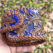 Сумки и аксессуары handmade. Livemaster - original item Brown leather wallet