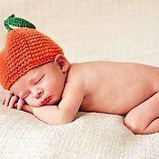Работы для детей, ручной работы. Ярмарка Мастеров - ручная работа Шапочка для малыша Сладкий апельсин. Handmade.