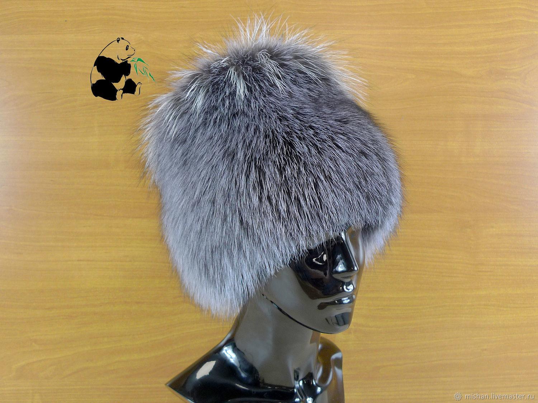 fur hat women's knitted lining fox fur df-44, Caps, Ekaterinburg,  Фото №1