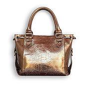 Сумки и аксессуары handmade. Livemaster - original item Women`s bag made of python ADRIANA. Handmade.