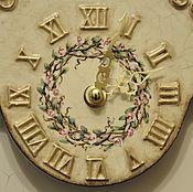 Для дома и интерьера ручной работы. Ярмарка Мастеров - ручная работа Часы с ручной росписью на фигурном подвесе. Handmade.