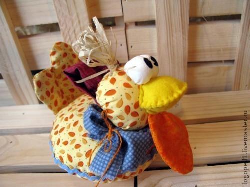 Подарки на Пасху ручной работы. Ярмарка Мастеров - ручная работа. Купить Счастливая курица. Handmade. Птица счастья, желтый