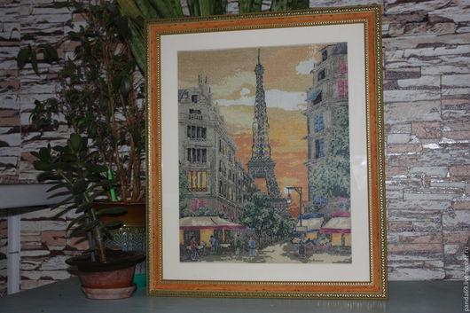 Город ручной работы. Ярмарка Мастеров - ручная работа. Купить Улочка Парижа. Handmade. Комбинированный, закат в париже, улочка парижа