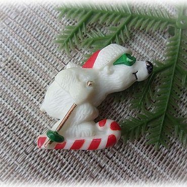 """Винтаж ручной работы. Ярмарка Мастеров - ручная работа Hallmark Брошь """"Мишка на Севере"""". Handmade."""