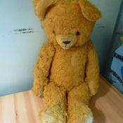 Винтаж ручной работы. Ярмарка Мастеров - ручная работа Винтажный медведь Тедди. Большой желтый мишка ( Германия ). Handmade.