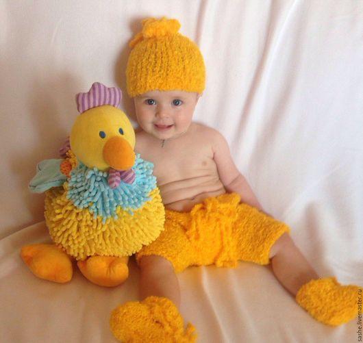 Одежда унисекс ручной работы. Ярмарка Мастеров - ручная работа. Купить Коллекция вязания для детей. Handmade. Желтый, хлопок