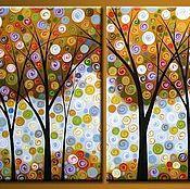 Картины и панно handmade. Livemaster - original item Triptych