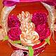 Персональные подарки ручной работы. Ярмарка Мастеров - ручная работа. Купить Корзина с розами. Handmade. Разноцветный, женщина, органза, корзина