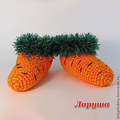 """Работы для детей, ручной работы. Ярмарка Мастеров - ручная работа Тапочки """"Морковки"""".. Handmade."""