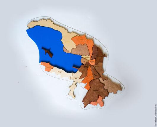 Карта Санкт-Петербурга, материал фанера. Возможно изготовление из ценных пород дерева.
