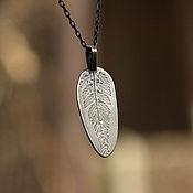 """Подвеска ручной работы. Ярмарка Мастеров - ручная работа Кулон """"Папоротник"""", серебро. Handmade."""