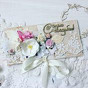 Открытки ручной работы. Ярмарка Мастеров - ручная работа Свадебный конверт для денежного подарка. Handmade.