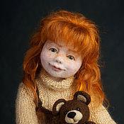 Куклы и игрушки ручной работы. Ярмарка Мастеров - ручная работа Авторская войлочная кукла Алиса. Handmade.