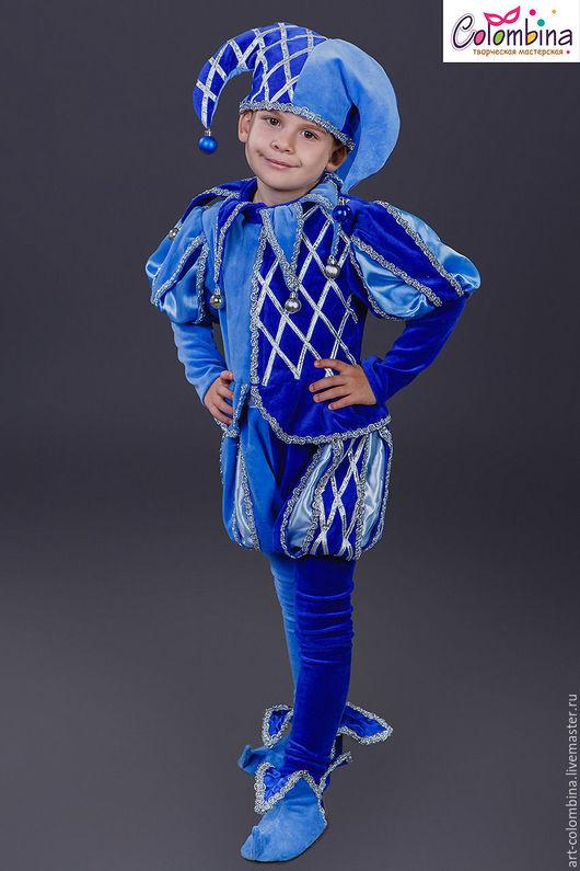 Детские карнавальные костюмы ручной работы. Ярмарка Мастеров - ручная работа. Купить Костюм шута. Handmade. Синий, скоморох