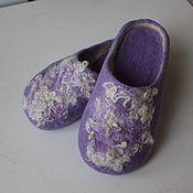 Обувь ручной работы. Ярмарка Мастеров - ручная работа Тапки с утолщённым подпятником. Handmade.
