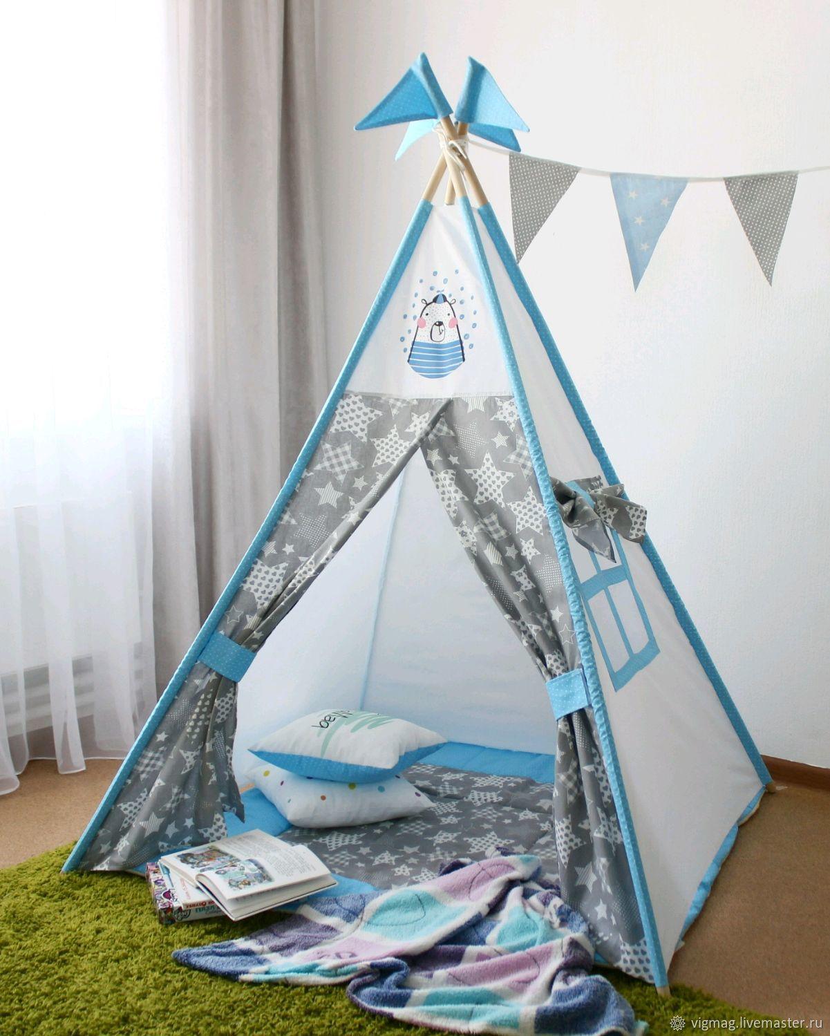 Wigwam: Wigwam complete with anti-folding system, tent, tent, Nursery wigwam, Ivanovo,  Фото №1