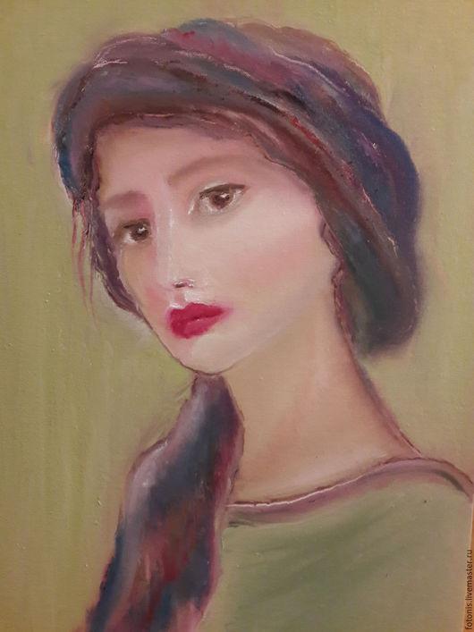 Люди, ручной работы. Ярмарка Мастеров - ручная работа. Купить Итальянская история. Handmade. Комбинированный, итальянка, портрет, женщина, девушка