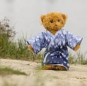 Куклы и игрушки ручной работы. Ярмарка Мастеров - ручная работа Палевый Тедди мишка в японском кимоно. Handmade.