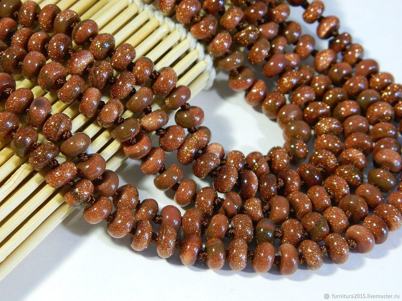 Aventurine beads 'Gold sand', Beads1, Saratov,  Фото №1