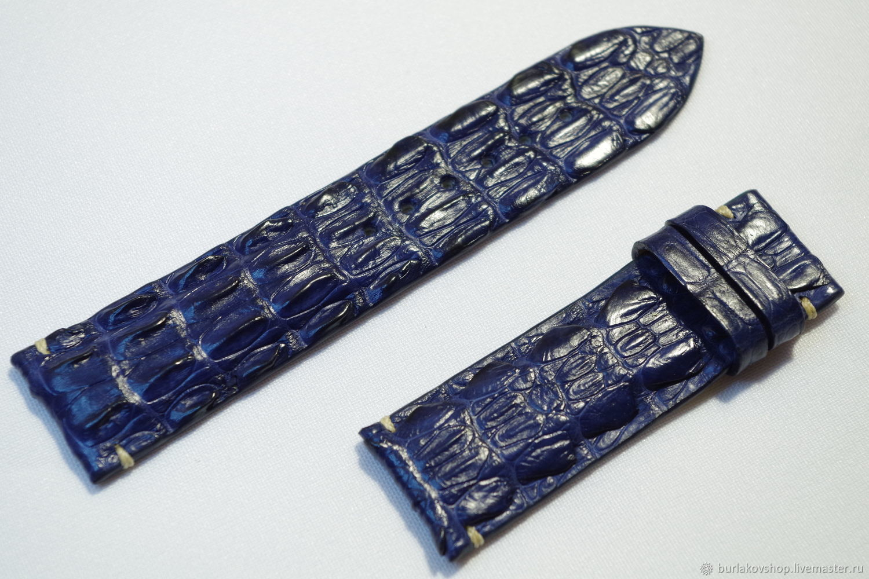 Watchband crocodile leather size 24/22 lot 131001, Watch Straps, Krasnodar,  Фото №1