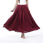 Одежда handmade. Livemaster - original item Skirt boho linen. Handmade.