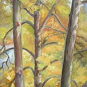 """Картины и панно ручной работы. Ярмарка Мастеров - ручная работа Пейзаж """"Липы перед моим окном"""". Handmade."""