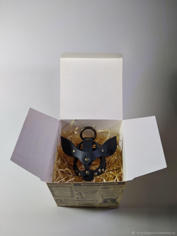 Брелок- подвес из кожи Kitsune