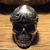 Украшения handmade. Livemaster - original item Ring skull biker of 925. Handmade.