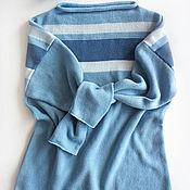 Одежда ручной работы. Ярмарка Мастеров - ручная работа Пуловер кашемировый Небесный. Handmade.