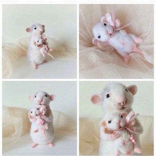 """Игрушки животные, ручной работы. Ярмарка Мастеров - ручная работа. Купить Авторская интерьерная игрушка """"Крысуля-мама"""". Handmade. Крыса"""