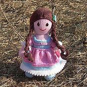 Куклы и игрушки ручной работы. Ярмарка Мастеров - ручная работа Вязаная кукла из шерсти Лапуся. Handmade.